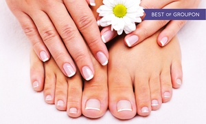 Diamond Nail: Pedicure with Optional Full Set of Acrylic Nails at Diamond Nail (Up to 48% Off)