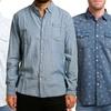 Indigo Star Woven Button-Down Shirts
