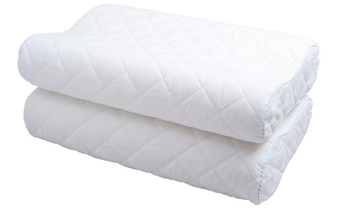 oreiller avec support du cou groupon. Black Bedroom Furniture Sets. Home Design Ideas