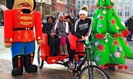 Christmas-Tree Lights or Wine-Tasting Pedicab Tour for Two from Discover DC Pedicab Tours (Up to 50% Off)