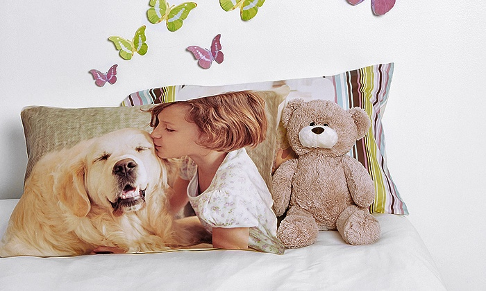 Collage.com: Customizable Pillowcase or Blanket from Collage.com (Up to 83% Off). Four Options Available.
