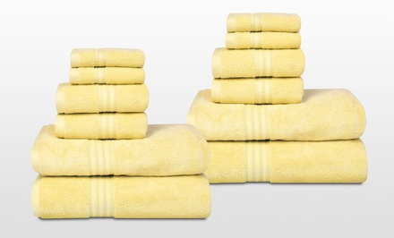 12-Piece Suite Spot Bamboo Cotton Towel Set. Multiple Colors Available. Free Returns.