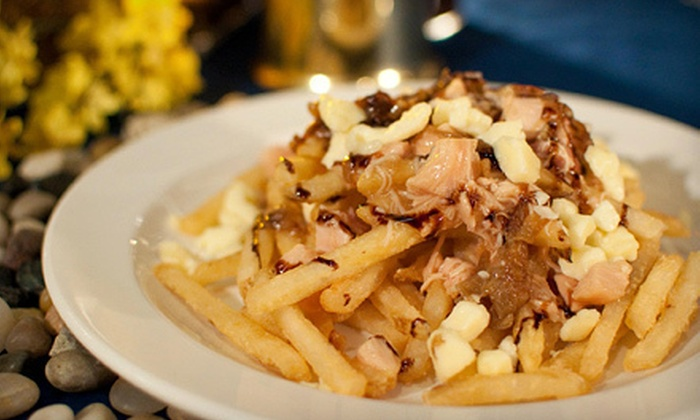 Coasters Gourmet Grill - Byward Market - Parliament Hill: Smoked-Chicken Poutine for Two or Four at Coasters Gourmet Grill (Up to 53% Off)