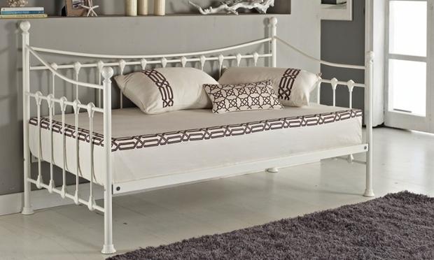 Estructura de cama versailles groupon goods - Estructuras de camas ...