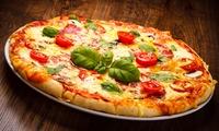 Menu con antipasto, pizza a scelta, dolce e birra media