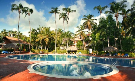 Groupon Deal: 3-, 4-, 6-, or 7-Night All-Inclusive Dominican Stay with Airfare. Price/person Based on Double Occ. Taxes, Fees Incl.