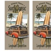 """2-Pack of """"Surf Classic"""" Long-Board Beach Towels"""