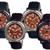 Breed Mozart Men's Wood Dial Leather Strap Watch