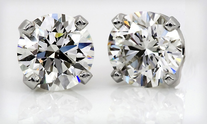 1-Carat Total Diamond Weight Certified Diamond Stud Earrings : $699 for 1-Carat TDW Diamond Stud Earrings in 14K White Gold ($1,999.99 List Price). Free Shipping and Free Returns.
