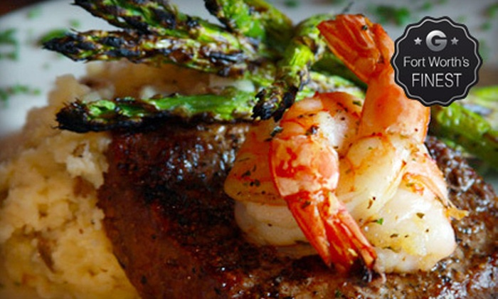 Cat City Grill - Fort Worth: Seafood and Steak-House Fare Monday–Thursday or Friday–Saturday at Cat City Grill (Half Off)