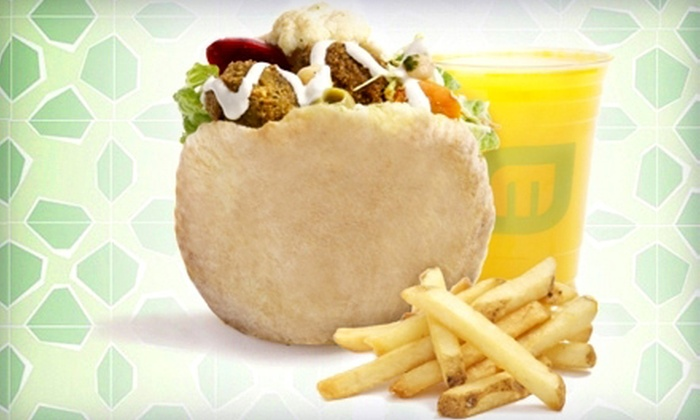 Maoz Vegetarian - City Center: $10 for $20 Worth of Falafel and Vegetarian Food to Use Over Two Visits at Maoz Vegetarian