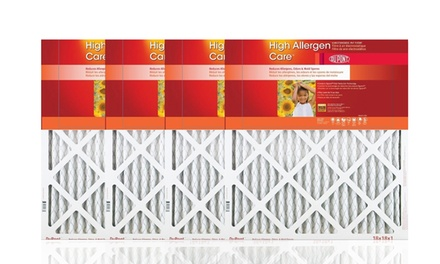 4-Pack of DuPont High Allergen Care Electrostatic Air Filters from $27.99–$32.99