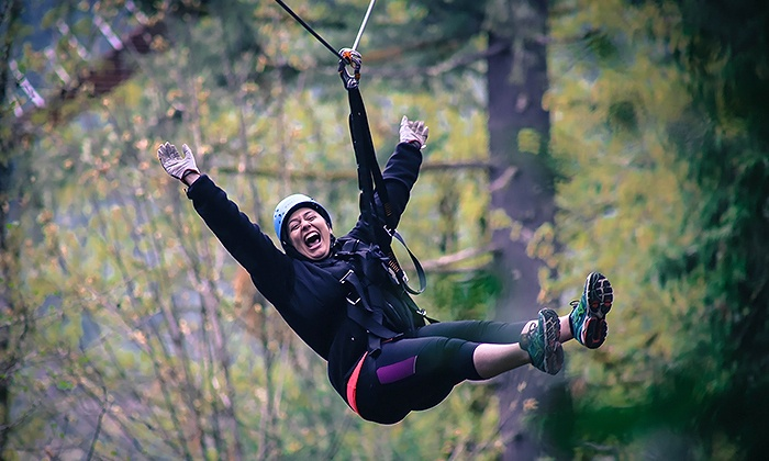 Pumpkin Ridge Zip Tour - Pumpkin Ridge Zip Tour: Zipline Tour for Two from Pumpkin Ridge Zip Tour (Up to 27% Off). Six Options Available.