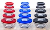 10 Pcs. Glass Bowl Set with Airtight Lids