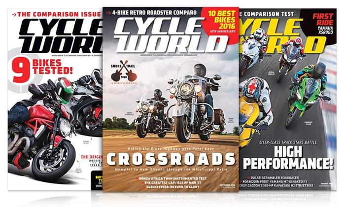 1-Year, 12-Issue Subscription to Cycle World Magazine