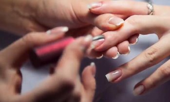 Classic Manicure and Pedicure at Noor Salon, Marriott