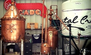 Crystal Creek Moonshine: Tour with Tasting, Souvenir Glasses and Apparel for Two or Four at Crystal Creek Moonshine (Up to 60% Off)