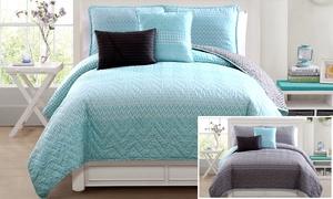 5-piece Fayruz Reversible Quilt Set