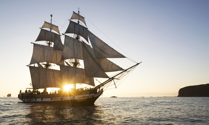 Shipwrecked at the Seaport - The Hybrid or The Sensation, Docked at Pier 15: Shipwrecked at the Seaport: VIP Pirate Party onboard El Galeón at Pier 15 on July 4–11 (Up to 34% Off)
