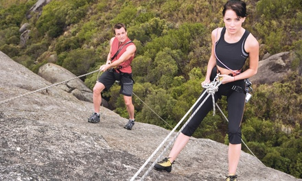 $49 for a 4-Hour Rock-Climbing Lesson with Guided Climb and Gear from Adventure Out (Up to $99 Value)