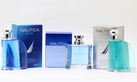 Nautica Blue, Classic, or Voyage Eau de Toilette for Men; 3.4 Fl. Oz.