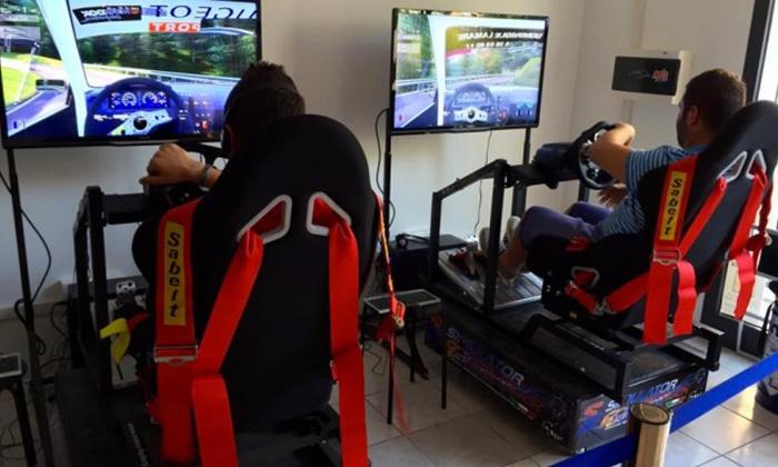 Driving Simulation Center - Lanciano: 8 giri di pista simulati su vetture a scelta da Driving Simulation Center (sconto fino a 87%)