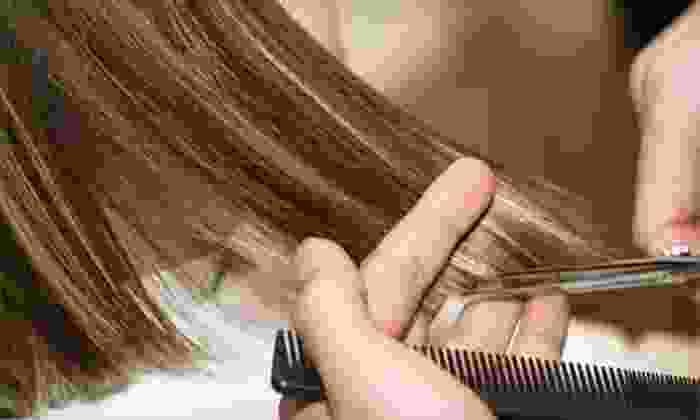 Sandy's Hair Design - South Bend: Haircut, Blow-Dry, and Conditioning with Option for Highlights or Color at Sandy's Hair Design (Up to 54% Off)