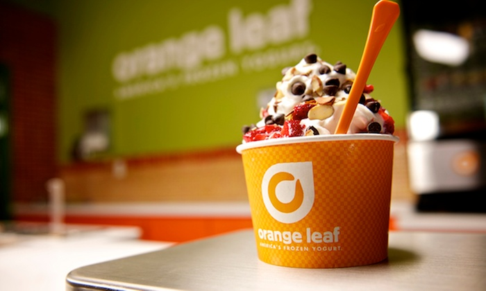 Orange Leaf Frozen Yogurt - Multiple Locations: One or Three Groupons, Each Good for $10 Worth of Frozen Yogurt at Orange Leaf Frozen Yogurt (50% Off)