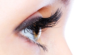Red Nail Salon: Full Eyelash Extension with Foot Massage Package starting from AED 99 at Red Nail Salon