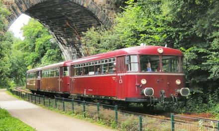 Schienenbus-Erlebnis mit Hin- und Rückfahrt für 1 oder 2 Personen mit der RuhrtalBahn
