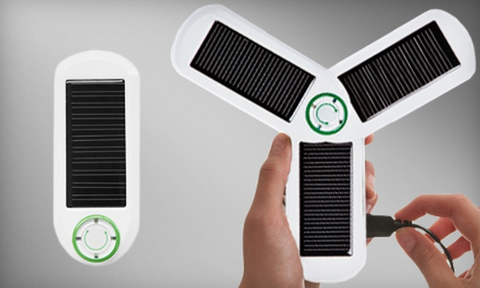 Portable Solar and USB Charger: $29 for a Kiwi Choice U-Powered Portable Solar and USB Mobile Device Charger ($59.99 Value)