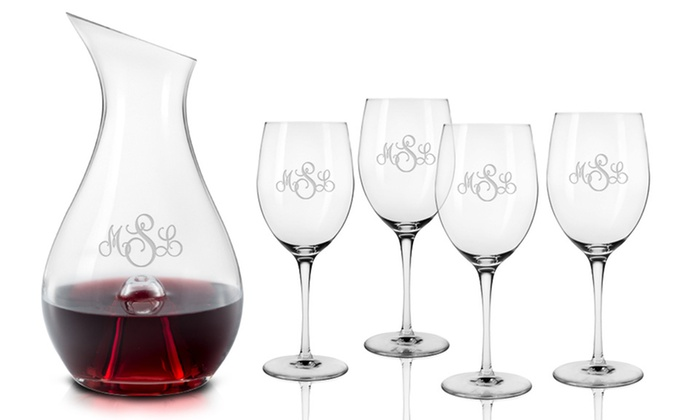 Clink Barware: Monogrammed Wineglasses from Clink Barware (Up to 51% Off). Three Options Available.