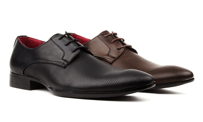 Royal Men's Perforated Lace-Up Dress Shoes