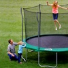 12' Kinetic Trampoline with Enclosure and Ladder