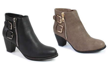 Women's Side Zippered Ankle Boots