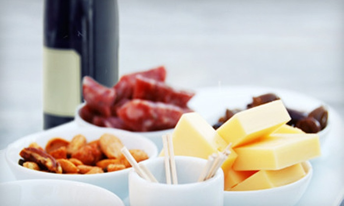 Chrisman Mill Vineyards - Multiple Locations: Fruit and Cheese Platter, Wine Glasses, and Take-Home Wine for Two or Four at Chrisman Mill Vineyards (Up to 54% Off)
