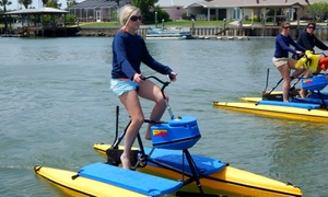 Paddleboard New Smyrna Beach: 2hr Rental of One Tandem Hydrobike or Two Single Hydrobikes for 2 at Paddleboard New Smyrna Beach (Up to 76% Off)
