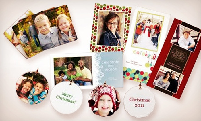 Tallahassee Photo - Tallahassee: Ceramic Photo Ornament, 25 Holiday Cards, or Four Custom Hardboard Coasters from Tallahassee Photo (Up to 60% Off)
