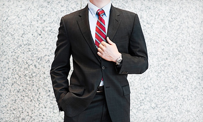 Saad's Tailors - Great Uptown: $299 for a Ready-Made Men's Italian Suit at Saad's Tailors ($799 Value)