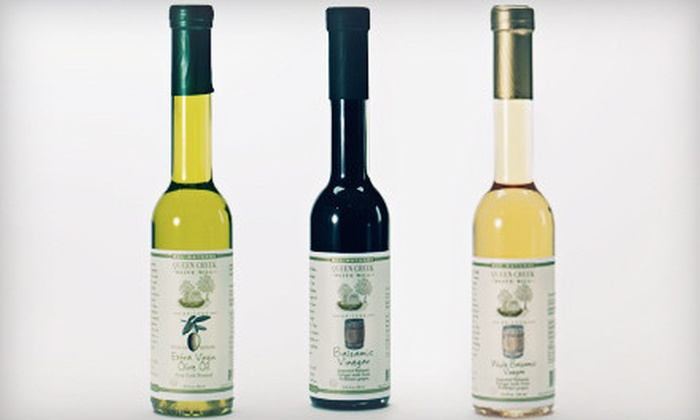 Queen Creek Olive Mill - Multiple Locations: $25 for an Oil and Vinegar Three-Pack and Olive Oil 101 Tour at Queen Creek Olive Mill ($52.99 Value)