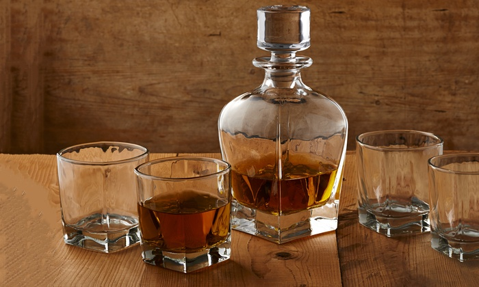 Glacier Glass Decanter Set (5-Piece)