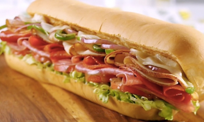 Subway - Long Beach - Long Beach: Combo Meal for Two or Four with Footlong Subs, Chips, and Drinks or Five 6-Inch Subs at Subway (Up to 50% Off)
