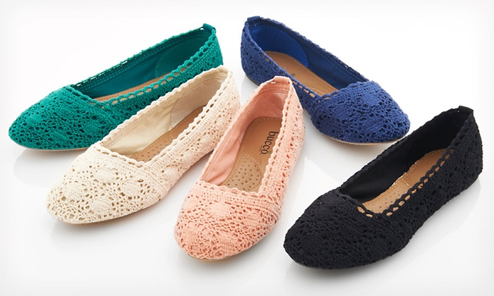 Bucco Macy Crochet Flats: $19.99 for Bucco Macy Crochet Flats ($45 List Price). Multiple Colors Available. Free Shipping and Returns.