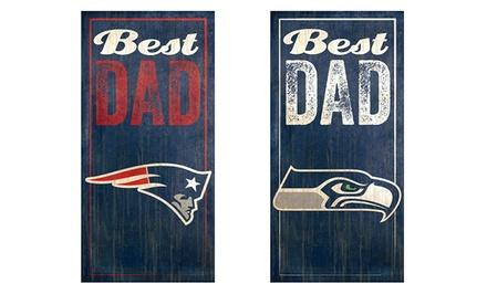 Nfl Best Dad Sign