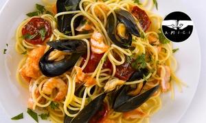 Osteria Teresella: Menu pesce di 4 portate con calice o bottiglia di vino da Osteria Teresella (sconto fino a 73%)