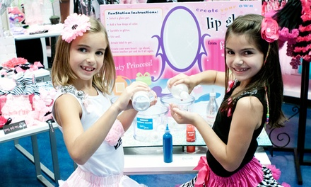 Sparkling Diva Party, or Kid's Mani-Pedi with Optional Sparkling Makeup or Updo at The Tutu Boutik (Up to 50% Off)