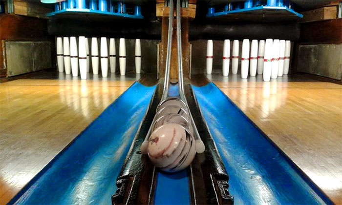 Riverwalk Lanes - Amesbury Town: $23 for Two Hours of Candlepin Bowling with Shoe Rentals for Five at Riverwalk Lanes ($47.50 Value)