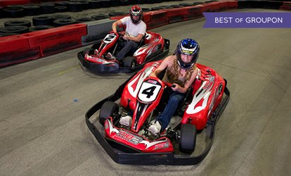 image for Go-Kart Racing or Birthday Party for Up to 10 at MB2 Raceway (Up to 48% Off). Four Options Available.