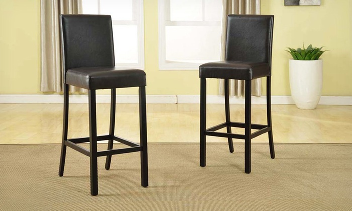 Baxton Studio Faux Leather Bar Stools: $99 for Two Baxton Studio Faux  Leather Bar Stools - Baxton Studio Bar Stools Groupon Goods