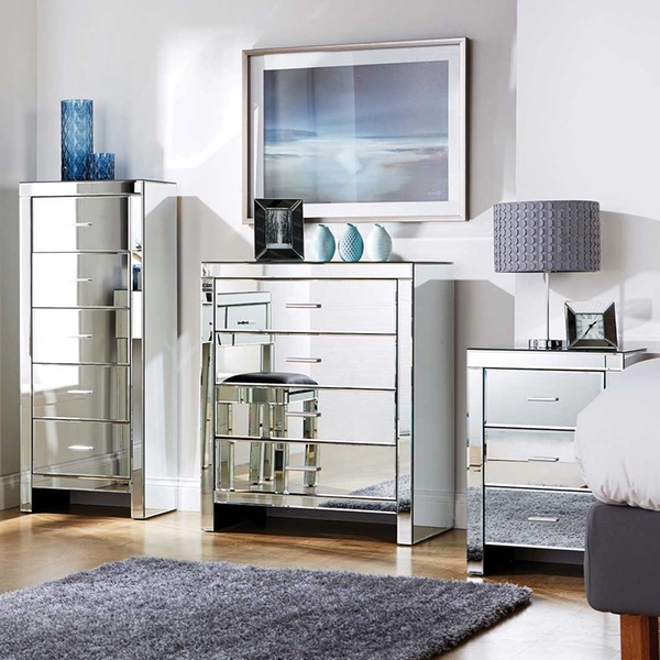 Romantica Mirrored Bedroom Furniture from £49.99 With Free Delivery (Up to  60% Off)